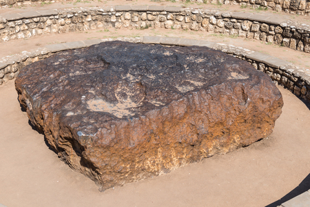 The Hoba meteorite, near Grootfontein in Namibia, is at 60 ton the largest known meteorite on earth