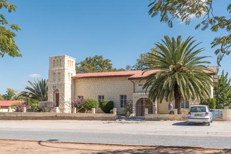 GROOTFONTEIN, NAMIBIA - JUNE 20, 2017: The New Apostolic Church in Grootfontein in the Otjozondjupa Region of Namibia Editorial