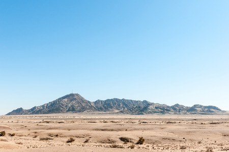 The Rossing Mountain as seen from the B2-road between Swakopmund and Arandis in the Namib Desert of Namibia