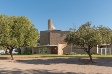 UPINGTON, SOUTH AFRICA - JULY 6, 2017: The Dutch Reformed Church Upington-West in Upington in the Northern Cape Province