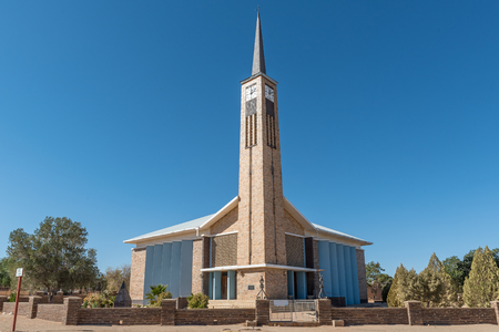 KARASBURG, NAMIBIA - JUNE 13, 2017: The Dutch Reformed Church in Karasburg in the Karas Region of Namibia