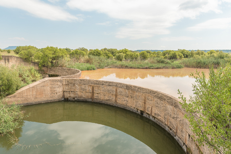 A dam in the Klein Vet River at the Koranna Mountain near Excelsior in the Free State Province of South Africa
