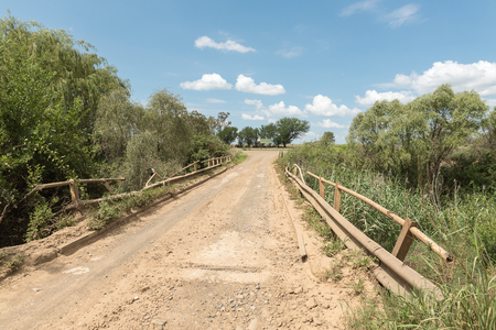 The R709-road bridge across the Groot Vet River near Excelsior, a small town in the Free Strate Province of South africa Stock Photo