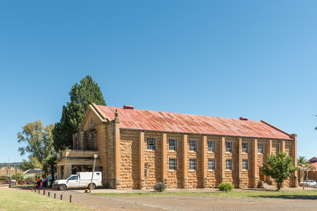LADYBRAND, SOUTH AFRICA - MARCH 12, 2018: The town hall in Ladybrand, a town in the eastern Free State Province near the border with Lesotho