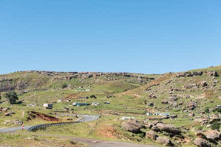 The landscape next to road R65 near Mount Fletcher in the Eastern Cape Province