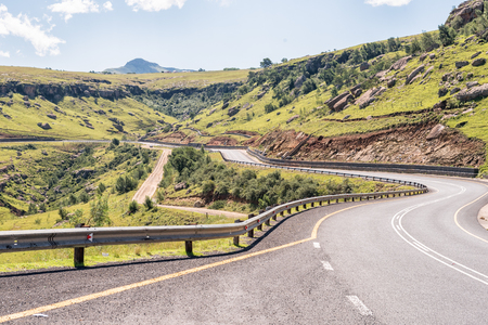 The landscape on Katkop Pass between Mount Fletcher and Maclear in the Eastern Cape Province