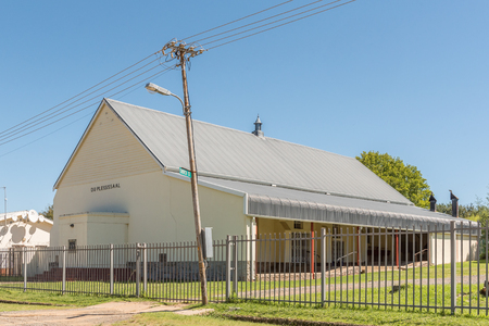 ELLIOT, SOUTH AFRICA - MARCH 28, 2018: The Du Plessis Hall of the Dutch Reformed Church in Elliot in the Eastern Cape Province Editorial