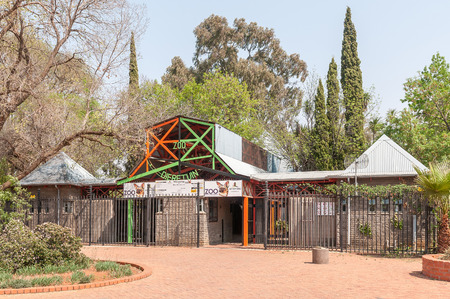 BLOEMFONTEIN, SOUTH AFRICA, SEPTEMBER 21, 2017: The entrance to the zoo in Bloemfontein in the Free State Province Editorial