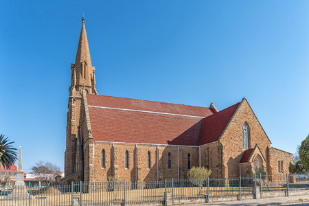 WINBURG, SOUTH AFRICA, JULY 30, 2018: The Dutch Reformed Church in Winburg, a small town in the Free State Province of South Africa