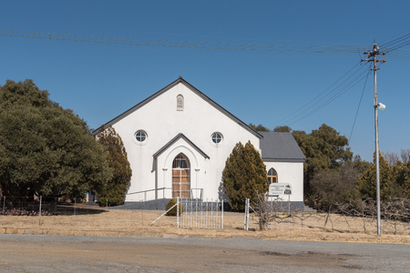 VENTERSBURG. SOUTH AFRICA, JULY 30, 2018: The Reformed Church in Ventersburg, a small town in the Free State Province of South Africa
