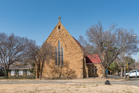 KROONSTAD. SOUTH AFRICA, JULY 30, 2018: The Anglican Church of St. George the Martyr in Kroonstad, a town in the Free State Province of South Africa