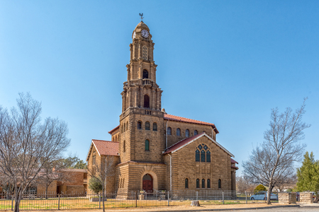 KROONSTAD. SOUTH AFRICA, JULY 30, 2018: The Dutch Reformed Mother Church Kroonstad-North, in Kroonstad, a town in the Free State Province of South Africa Editorial