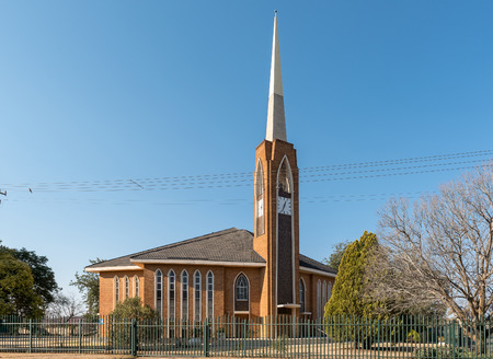 THEUNISSEN, SOUTH AFRICA, AUGUST 2, 2018: The Dutch Reformed Church Theunissen-West, in Theunissen in the Free State Province Province. Editorial