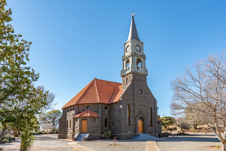 LUCKHOFF, SOUTH AFRICA, AUGUST 6, 2018: The Dutch Reformed Church in Luckhoff in the Free State Province