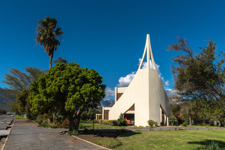 WOLSELEY, SOUTH AFRICA, AUGUST 8, 2018: The Dutch Reformed Church, in Wolseley in the Western Cape Province