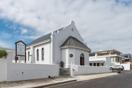 CAPE TOWN, SOUTH AFRICA, AUGUST 14, 2018: The Dutch Reformed Church in Bloubergstrand in the Western Cape Province