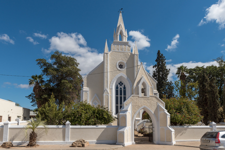CLANWILLIAM, SOUTH AFRICA, AUGUST 22, 2018: The historic first Dutch Reformed Church in Clanwilliam in the Western Cape Province
