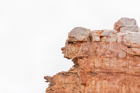 A rock formation, resembling a human face, at Truitjieskraal in the Cederberg Mountains of the Western Cape Province Stock Photo