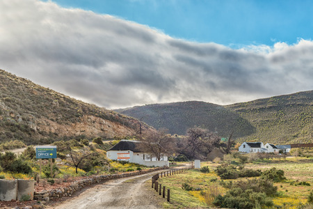 MATJIESRIVIER, SOUTH AFRICA, AUGUST 27, 2018: View of the offices of the Matjiesrivier Nature Reserve in the Cederberg Mountains