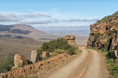 A view of the Gannaga Pass in the Tankwa Karoo of South Africa Stock Photo