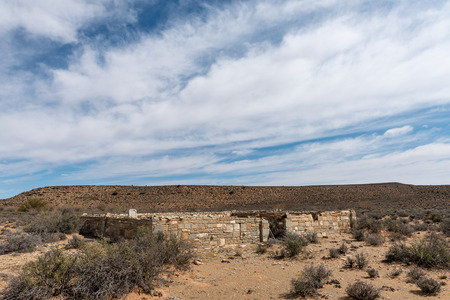 An historic cemetery on the direct route between Middelpos and Williston in the Northern Cape Province of South Africa 스톡 콘텐츠