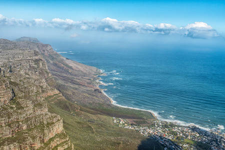 Bakoven and the Twelve Apostles in Cape Town as seen from the upper cable station on Table Mountain
