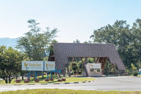 BADPLAAS, SOUTH AFRICA - MAY 2, 2019: Entrance to the Badplaas Forever Resort in the Mpumalanga Province