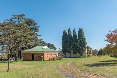 CAROLINA, SOUTH AFRICA - MAY 2, 2019: The Church Hall and ablution facilities of the Dutch Reformed Church, in Carolina, in the Mpumalanga Province