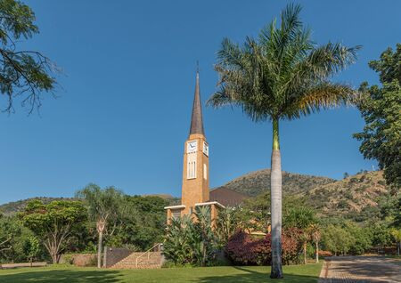 BARBERTON, SOUTH AFRICA - MAY 2, 2019: The Dutch Reformed Church in Barberton in the Mpumalanga Province