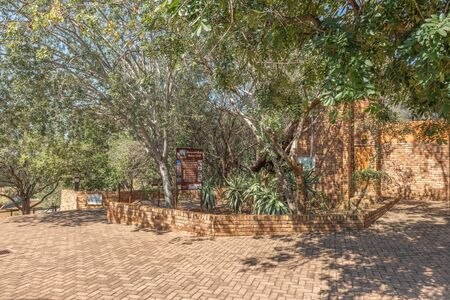 KRUGER NATIONAL PARK, SOUTH AFRICA - MAY 3, 2019: Starting point of the Rhino Trail in the Berg en Dal Rest Camp in the Kruger National Park