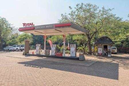 KRUGER NATIONAL PARK, SOUTH AFRICA - MAY 4, 2019: The gas station at the Crocodile Bridge Rest Camp in the Kruger National Park Redakční