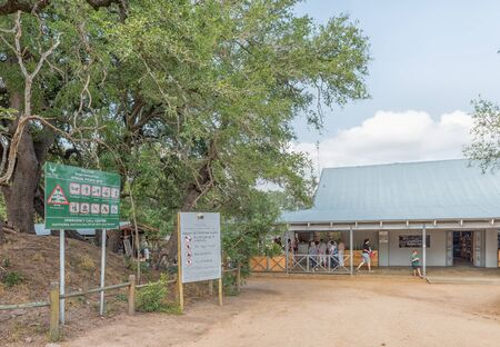 KRUGER NATIONAL PARK, SOUTH AFRICA - MAY 5, 2019: View of the Afsaal Picnic Site in the Kruger National Park. People are visible Redakční