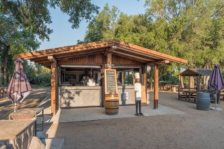 KRUGER NATIONAL PARK, SOUTH AFRICA - MAY 4, 2019: A coffee shop at the Afsaal Picnic Site in the Kruger National Park
