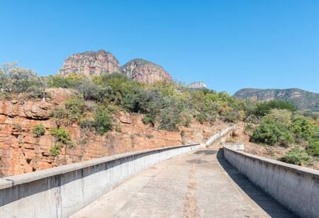 A view along the damwall of the Blyderivierspoort Dam