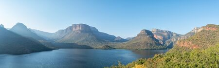Panoramic view of the Blyderivierspoort Dam and the Blyde River Canyon