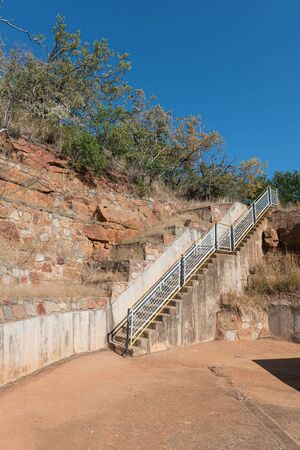 The stairs leading to and from the damwall of the Blyderivierspoort Dam Reklamní fotografie