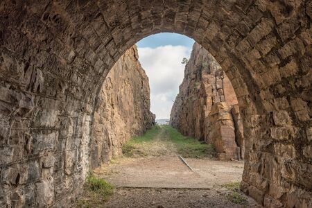 The western exit of the historic railroad tunnel at Waterval Boven in Mpumalanga 写真素材