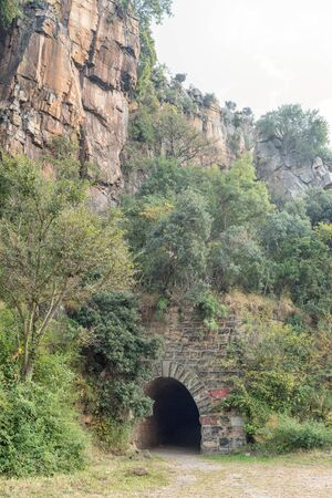 The eastern side of the historic railroad tunnel at Waterval Boven in Mpumalanga