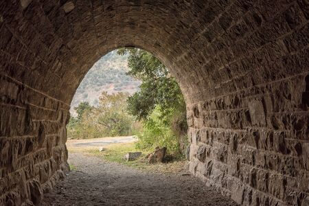 The eastern exit of the historic railroad tunnel at Waterval Boven in Mpumalanga 写真素材