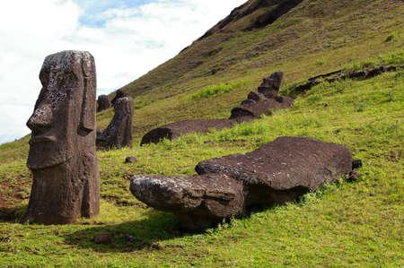 moai: Easter Island - Moai Stock Photo
