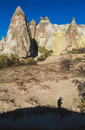 Cappadocia - Turquia, chaminés feericamente Imagens