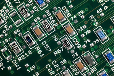 micro drive: Circuit Board from hard drive Stock Photo