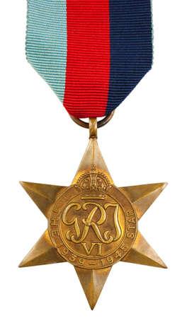 seconda guerra mondiale: La stella 1939-1945 Seconda Guerra Mondiale Medaglia Archivio Fotografico