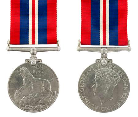 1939-1945 de la Seconde Guerre mondiale M�daille M�daille du service g�n�ral avec l'inscription GEORGIVS VI DG BR OMN REX ET IMP INDIAE