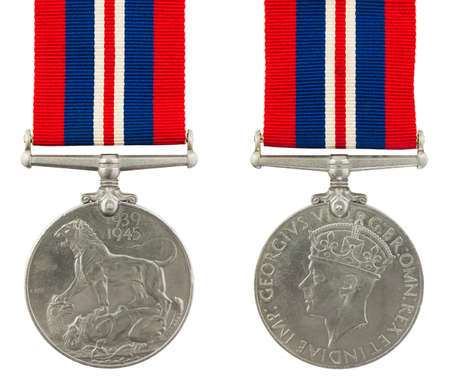 1939-1945 Second World War Medal General Service Medal with the inscription GEORGIVS VI D G BR OMN REX ET INDIAE IMP Stock Photo - 12812472