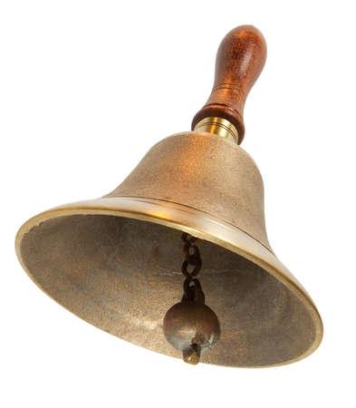 campanas: Brass Handbell con mango de madera