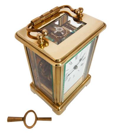 numeros romanos: Reloj del carro antiguo con n�meros romanos y los principales Foto de archivo