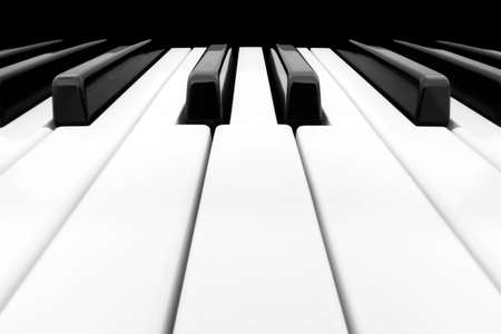 piano key: Close-up of Piano Keyboard with plenty of white space Stock Photo