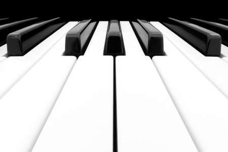 Close-up of Piano Keyboard centred on Ab with plenty of white space Stock Photo