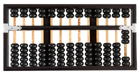 Abacus showing three isolated on white background. One of a set.